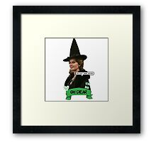 Zelena the Wicked Witch Framed Print