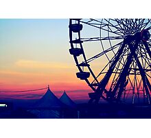 Ferris Wheel Digital Edit Photographic Print