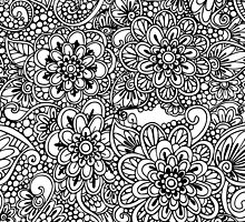 Hand drawn floral ornaments by lenkisart