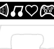 My drugs pizza music love games  Sticker