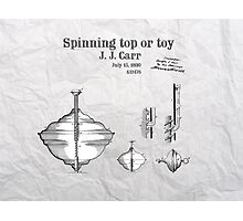 Spinning top or toy patent art Photographic Print