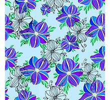 Bright blue orchid print Photographic Print