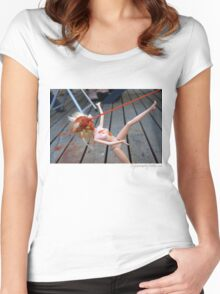 Fly From Nearby - Day 129 Women's Fitted Scoop T-Shirt