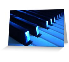 Blue Notes Greeting Card