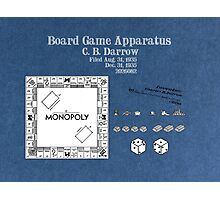 Monopoly Patent Art Board Game Apparatus Photographic Print