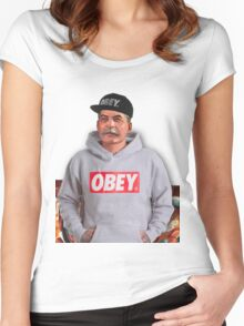 OBEY STALIN Women's Fitted Scoop T-Shirt