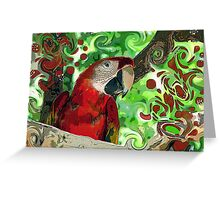 Parrot Pizzazz Greeting Card