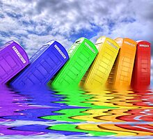 Out Of Order -  A Rainbow - Kingston - Surrey  by Colin  Williams Photography