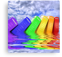 Out Of Order -  A Rainbow - Kingston - Surrey  Canvas Print