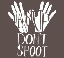 Hands Up Don't Shoot- White One Piece - Short Sleeve