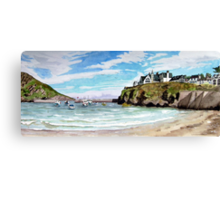 """Chaff Cove # 2"" -  Port Isaac, Cornwall Canvas Print"