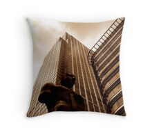 Canary Wharf Sculpture, London Throw Pillow