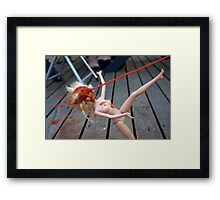 Fly From Nearby - Ketchup Barble Framed Print