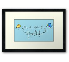 It's all about the Sparkle Framed Print
