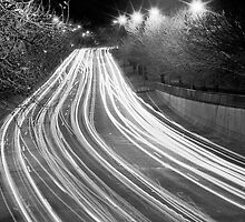 "Melbourne - ""Freeway - stream of car lights"" #2 by Belinda J Bennett"
