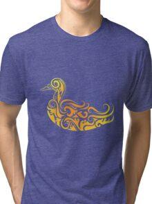 Duck pattern decoration Tri-blend T-Shirt