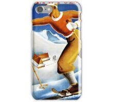 Poland Zima Ski Vintage Travel Poster Restored iPhone Case/Skin
