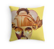 snail ears yellow Throw Pillow
