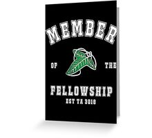 Fellowship (black tee) Greeting Card