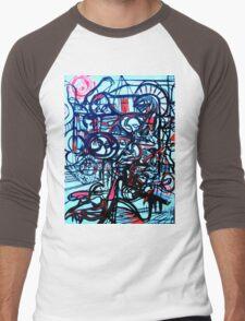 Psychedelic Cityscape Men's Baseball ¾ T-Shirt