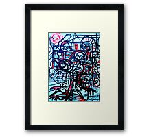 Psychedelic Cityscape Framed Print