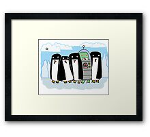 alien penguin Framed Print