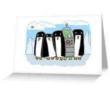 alien penguin Greeting Card