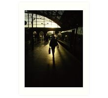 Arriving at Lime Street Station Art Print