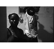 The Weight Pumper And His Sister  Photographic Print