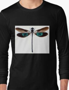 Dragonfly with green and brown wings Long Sleeve T-Shirt