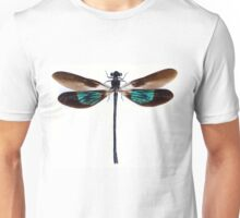 Dragonfly with green and brown wings Unisex T-Shirt