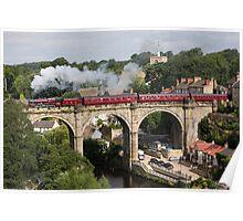 "Steam Train 5690 ""Leander"" at Knaresborough Poster"