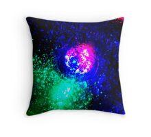 Cosmic Glitter and light. Throw Pillow