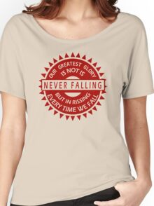 Falling Confucius Funny T-Shirt & Hoodies  Women's Relaxed Fit T-Shirt