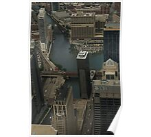 chicago from willis tower Poster