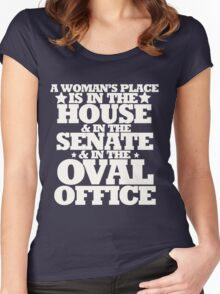 A womans place is in the house senate and oval office Women's Fitted Scoop T-Shirt