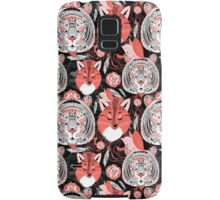 beautiful pattern  portraits of tigers and foxes Samsung Galaxy Case/Skin