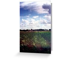 Fields and factories - oldschool Greeting Card