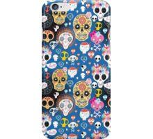 Festive pattern of funny skulls iPhone Case/Skin