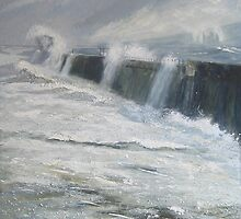Middleton Breakwater, Hartlepool by Sue Nichol