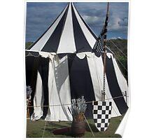 Black & White Tent Poster
