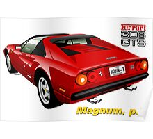 Ferrari 308 GTS from Magnum, p.i. Poster