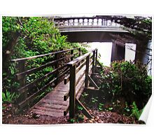 Bridges....Old and New...Outside Yachats, Ore..... Neptune beach Poster