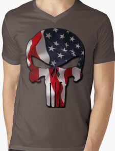 American Punisher Mens V-Neck T-Shirt