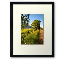 A Road in the Country Framed Print
