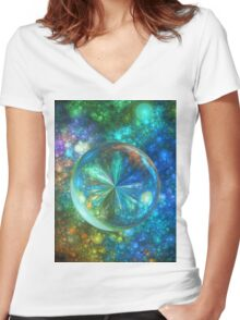 Liquid Lens Women's Fitted V-Neck T-Shirt