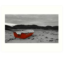 Sanna Cove: The Red Boat Art Print