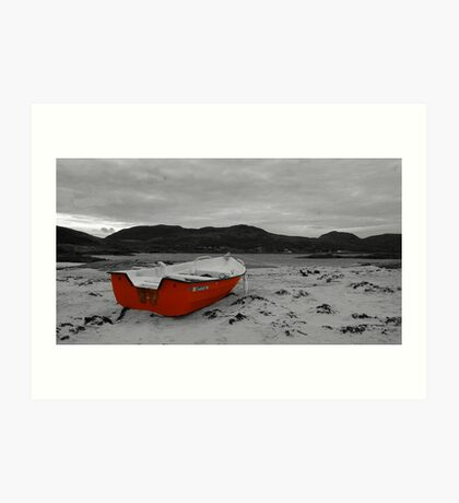 Sanna Cove: The Red Boat Art Print