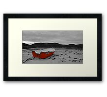 Sanna Cove: The Red Boat Framed Print