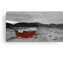 Sanna Cove: The Red Boat Metal Print